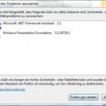 Warnung von Firefox 3.5.3
