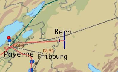 Solar Impulse über Bern